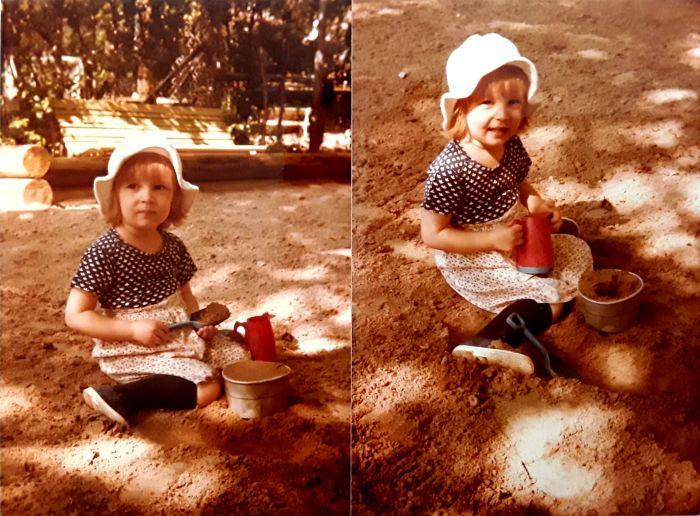 Johanna mietteliaana hiekkalaatikolla Joku Johanna Wahlbeck